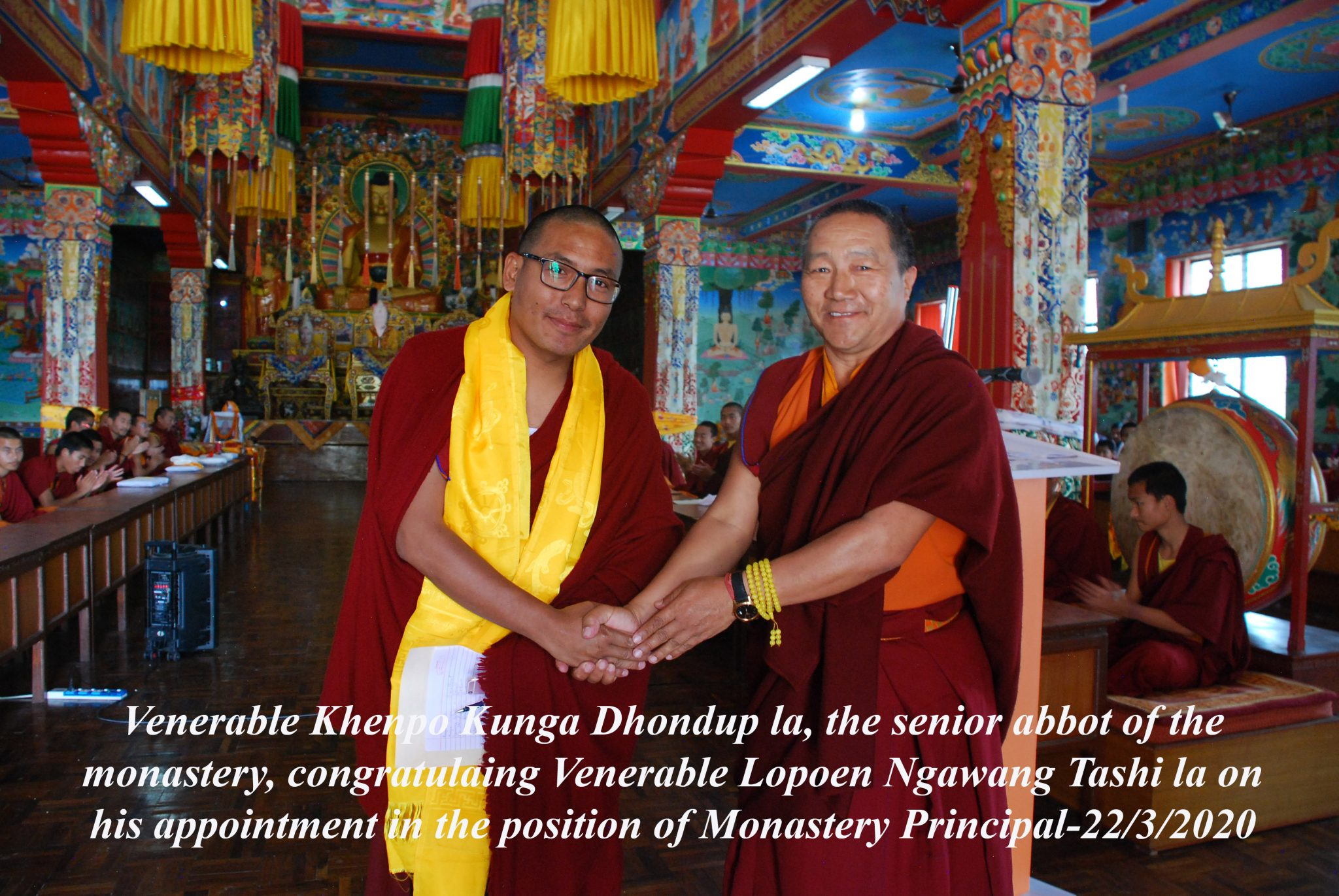 Appointment of New Monastery Principal