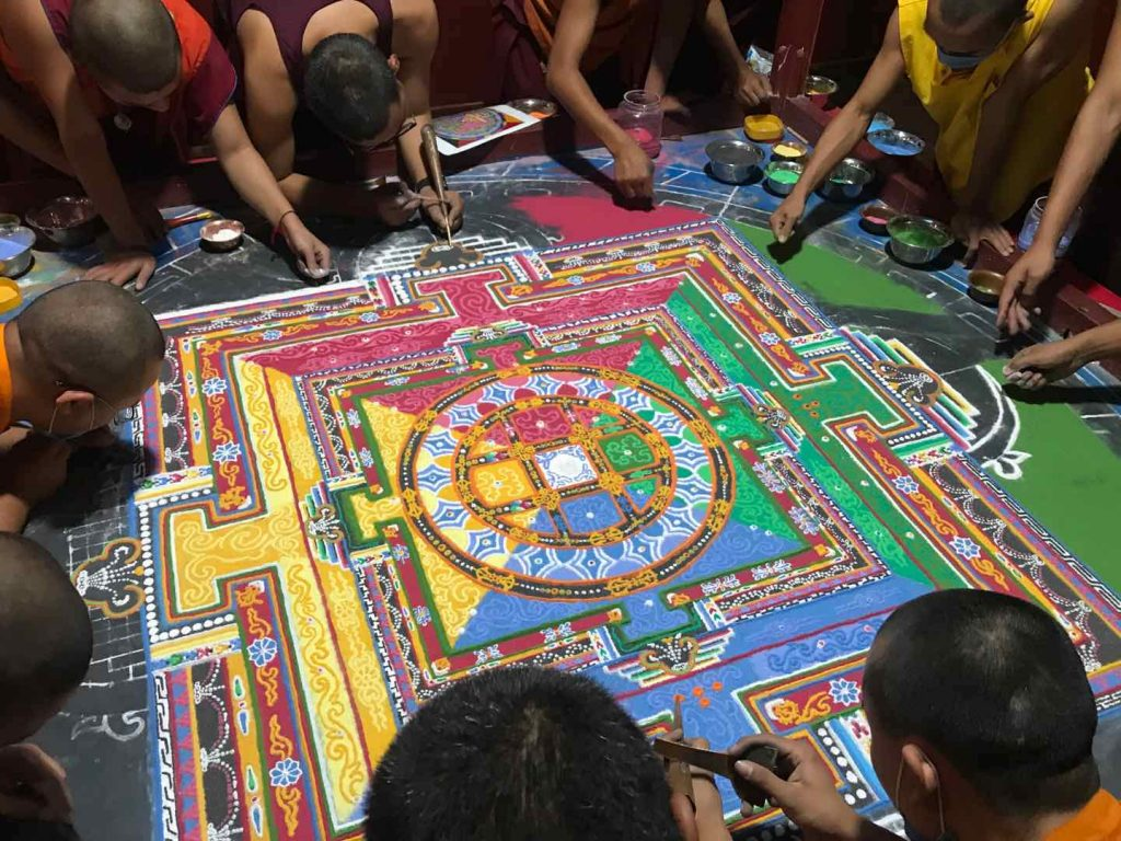 Mahavairochana Sand Mandala Ritual for COVID-19 Deceased